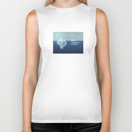 Stop climate change, save the icebergs Biker Tank