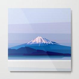 Geometric Mount Fuji, Tokyo, Japan Metal Print