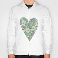 Green Patterned Heart Hoody
