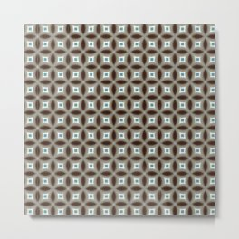 Turquoise Star Pattern Metal Print