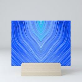 stripes wave pattern 3 c80 Mini Art Print