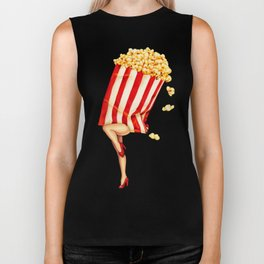 Popcorn Girl Biker Tank