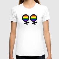 lesbian T-shirts featuring Lesbian Sign by Piensa Gay