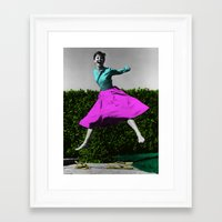 audrey Framed Art Prints featuring Audrey by POP Prints by FMcLaws