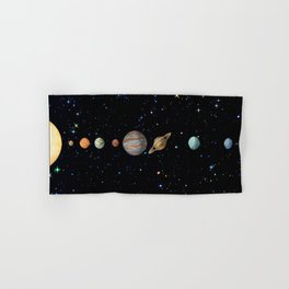 Planetary Solar System Hand & Bath Towel