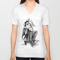 real madrid V-neck T-shirts featuring Madrid by TrueLoveStory