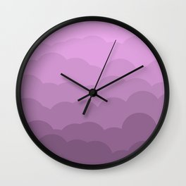 Lavender Ombre Clouds Wall Clock