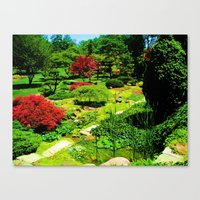 water colour Canvas Prints featuring Colour by ieIndigoEast