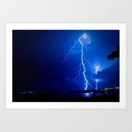 Balmoral Beach Lightning Strike II Art Print