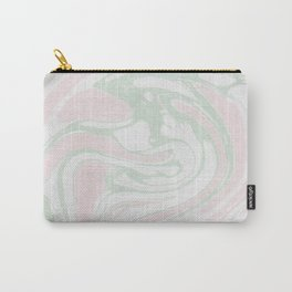 Paper Marbling Marble Effect Swirl Pink Green Carry-All Pouch