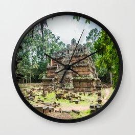 Phimeanakas Temple of Angkor Thom, Siem Reap, Cambodia Wall Clock
