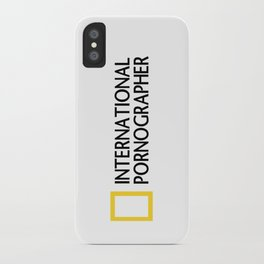 International Pornographer iPhone Case