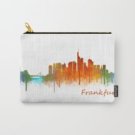 Frankfurt am Main, City Cityscape Skyline watercolor art v2 Carry-All Pouch
