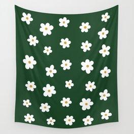 flower fall –deep green Wall Tapestry