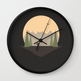A  Long Way From Home, Little One version 2  Wall Clock