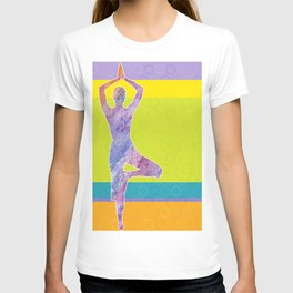 Drawing silhouette of woman doing yoga T-shirt