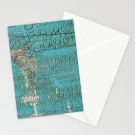 Rustic Wood with Bright Turquoise Paint Weathered Aged to perfection Stationery Cards
