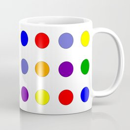 Rainbow Polka Dots Coffee Mug