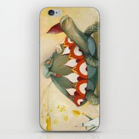 turtle iPhone & iPod Skins featuring Turtle by Darja Charapova