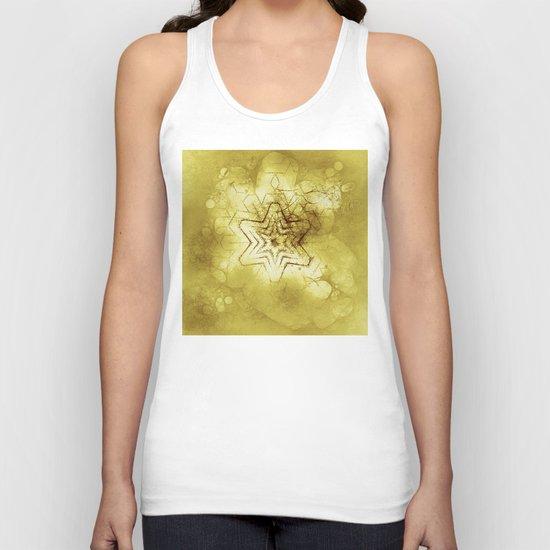 Star mandala in gold Unisex Tank Top