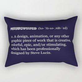 Halucinated Defined Rectangular Pillow