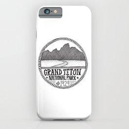 Grand Teton National Park Illustration iPhone Case