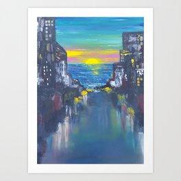 Sunrise City Art Print