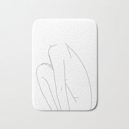 Nude figure line drawing illustration - Dyna Bath Mat