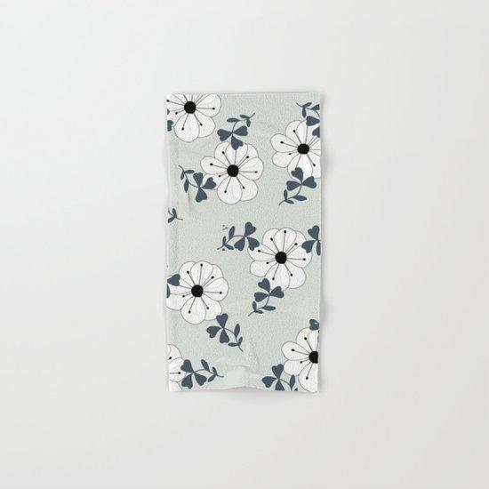 Delicate Flowers Pattern Hand & Bath Towel