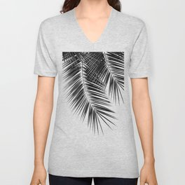 Black Palm Leaves Dream - Cali Summer Vibes #2 #tropical #decor #art #society6 Unisex V-Neck