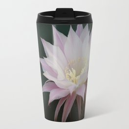 Beautiful Pale White Pink Echinopsis Oxygona Cactus Flower Travel Mug