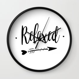Relaxed Lettering-PM coll Wall Clock