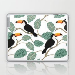 Toucan birds and palm leaves in the jungle Laptop & iPad Skin