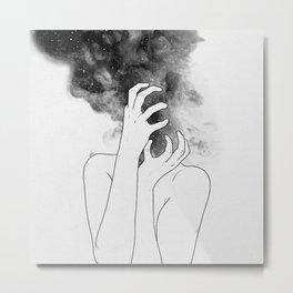 Losing thoughts. Metal Print