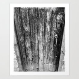 OLD CABIN DOOR Art Print