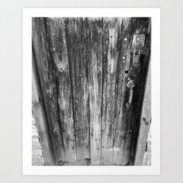 OLD CABIN DOOR Art Print