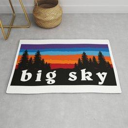 Big Sky Montana Ski Snowboard Resort Rug