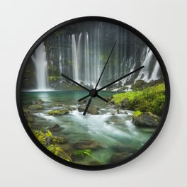 I - Shiraito Falls near Mount Fuji, Japan Wall Clock