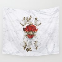 roman Wall Tapestries featuring Roman Marble by Eleaxart