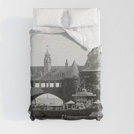 1890 Narragansett Towers & Casino, Narragansett, Rhode Island Duvet Cover
