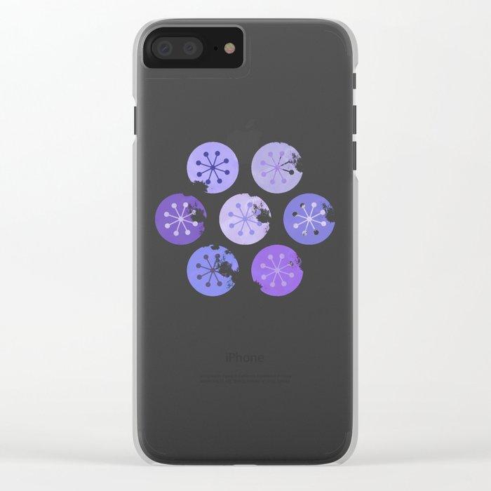 Watercolor Lovely Pattern VI Clear iPhone Case