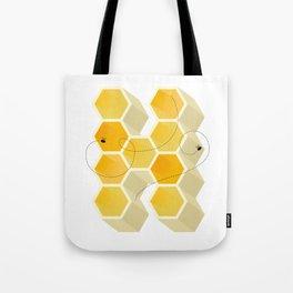 H Honeycomb Drop Cap Tote Bag