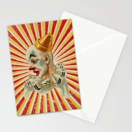 Scary vintage circus clown Stationery Cards