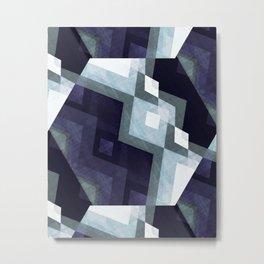 Scandinavian art print, Scandinavian poster art, blue art, Scandinavian poster print, Modern poster Metal Print