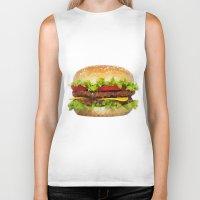 hamburger Biker Tanks featuring Triangular HAMBURGER by JOlorful