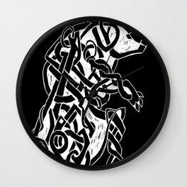 Bear Spirit black Wall Clock