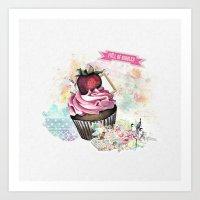 i love sweets Art Print