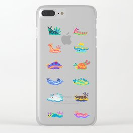 Sea slug - black Clear iPhone Case