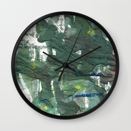 Feldgrau abstract watercolor Wall Clock