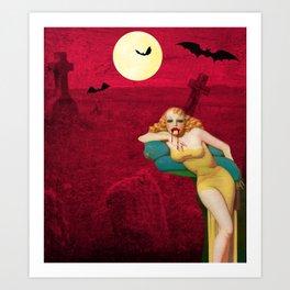 My Vampire Blind Date, Female, Vampire, Bloodsucker, Art Print